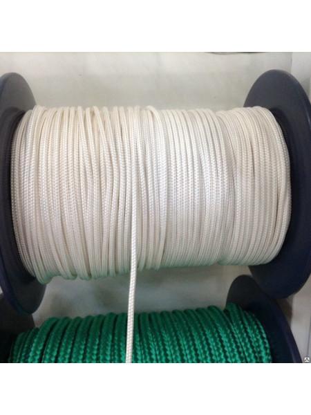 Шнур 4мм полипропиленовый плетёный с сердечником 16пр.