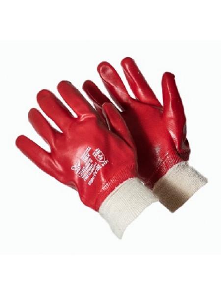 Перчатки красные масло-бензостойкие