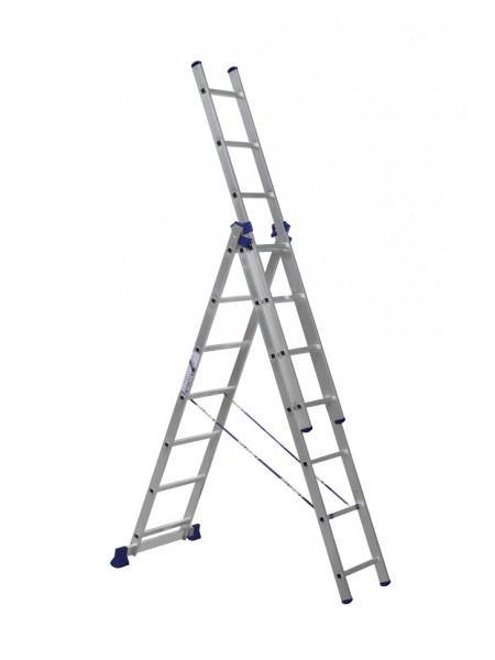 Лестница трехсекционная алюминиевая