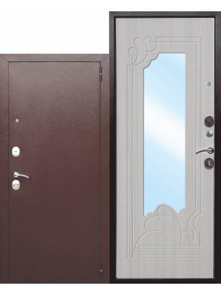 """Дверь стальная с зеркалом """"FERRONI"""" Ампир 6 см"""