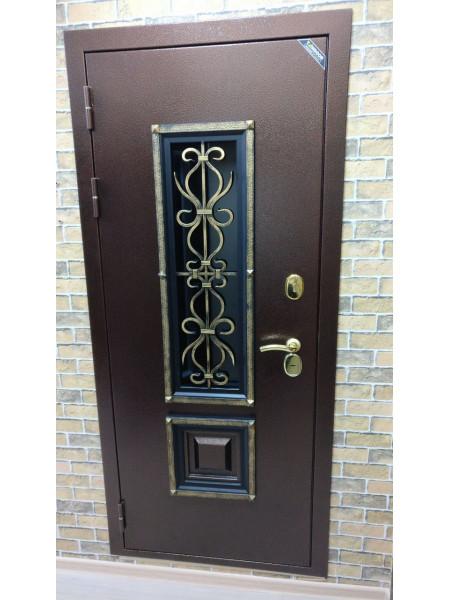 Дверь входная металлическая с ковкой Венеция