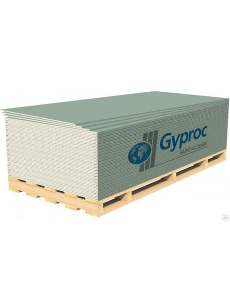 Гипсокартон влагостойкий ГКЛВ Гипрок 2500*1200*12,5мм