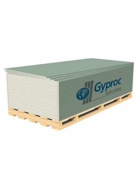 Гипсокартон влагостойкий ГКЛВ Гипрок 2500*1200*9,5мм