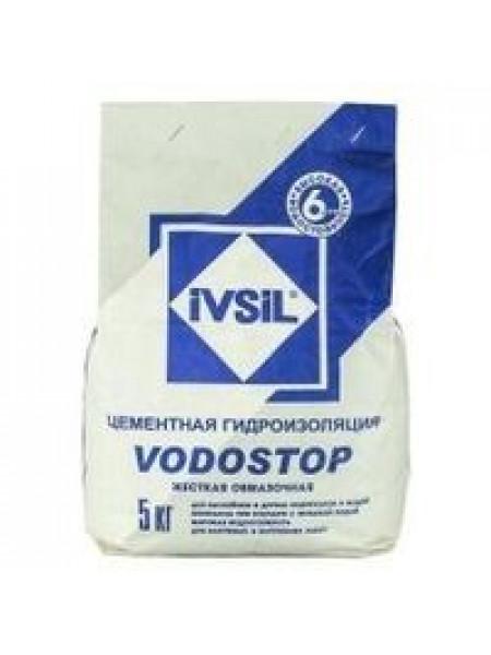 Гидроизоляц. смесь IVSIL (VODOSTOP) 5кг, шт