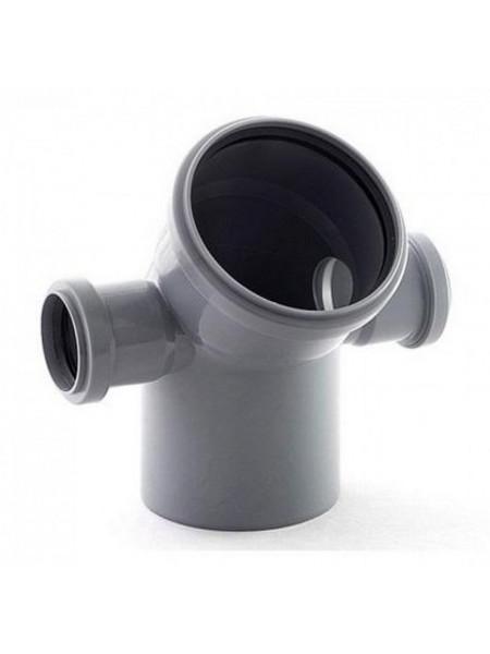 Отвод канализационный 110х50 мм 45 градусов (правый+левый)