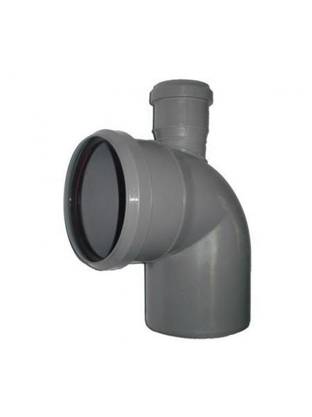 Отвод Д 110х90гр/ 50 верх (канализ.), шт