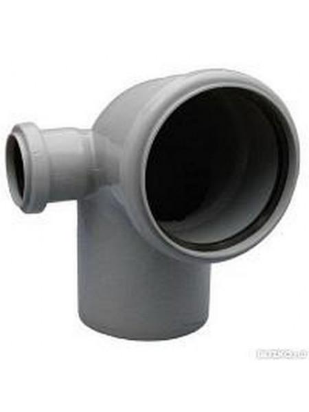 Отвод Д 110х90гр/ 50 лево (канализ.), шт