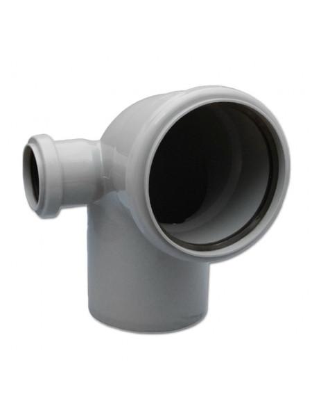 Отвод канализационный 110х50 мм 90 градусов (правый)