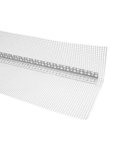 Профиль ПВХ угловой с армированной сеткой (10х15) 2,5м, шт
