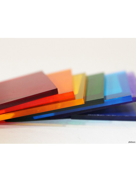 монолитный поликарбонат 2мм цветной Kinplast  2,05х3,05м, шт
