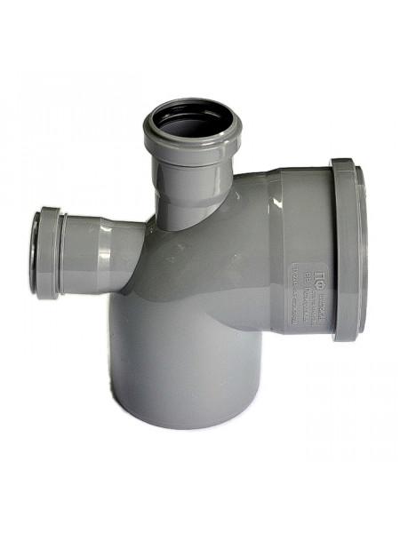 Отвод канализационный 110х50 мм 90 градусов (верх+назад)