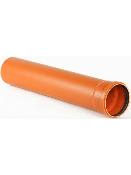 Труба Д110 = 1,0м RISPA Оранж 3,2мм (Канализац.), шт