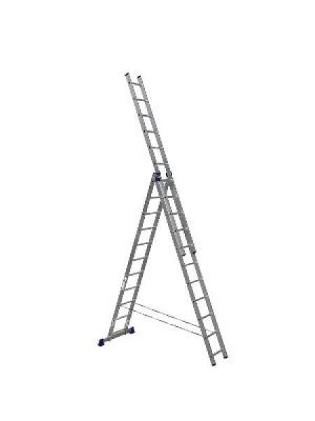Лестница трехсекционная алюм. 315/541/770см 3* 11ст 16,2кг
