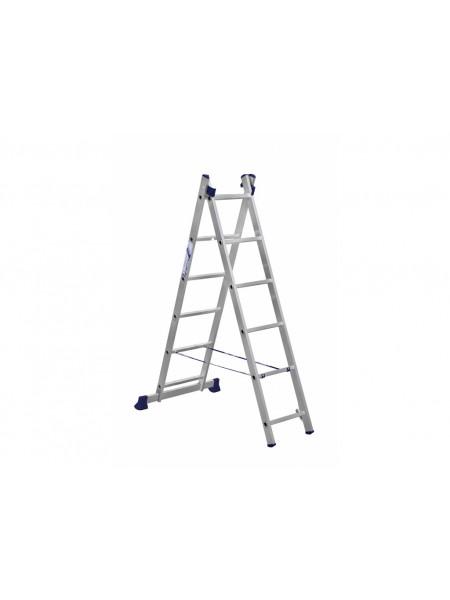 Лестница двухсекционная алюм. 315/541см 2* 11ст 10,8кг