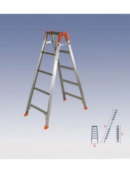 Лестница двухсекционная алюминиевая