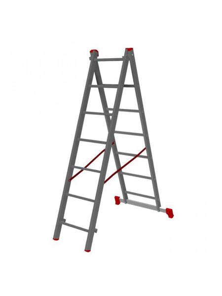 Лестница двухсекционная алюм. 343/598см 2* 12ст 11,6кг