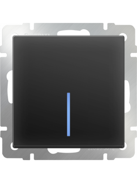 Выключатель 1 клав. чёрн. с подсв. Lezard модульный